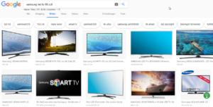 Ergebnis von Google anhand der Bildersuche mit dem Begriff Fernseher 60 Zoll