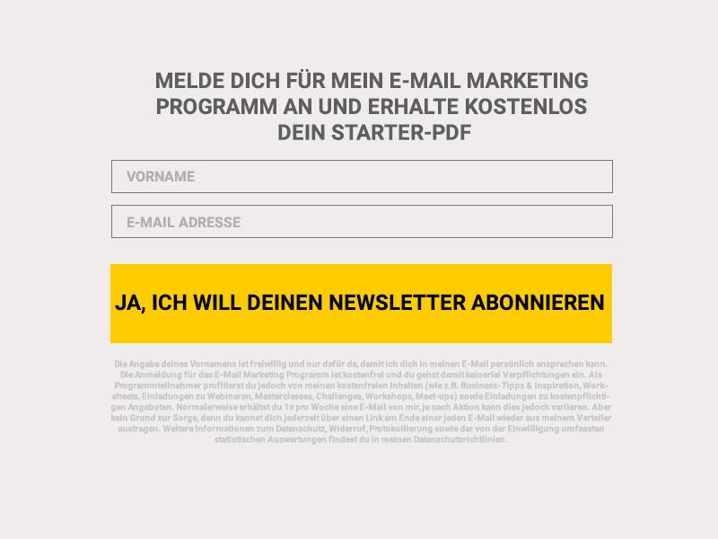 E-Mail-Marketing bild zur darstellung einer Anmeldung bei einem Newsletter